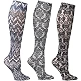 Women's Mild Compression Wide Calf Knee High Support Socks