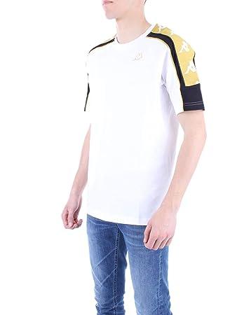 Kappa 222 banda 10 arset t shirt uomo bianca 304i050909