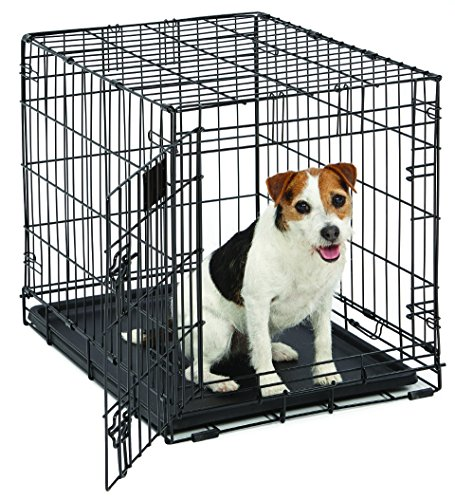 "Small Dog Crate | MidWest Life Stages 24"" Folding Metal Dog Crate 