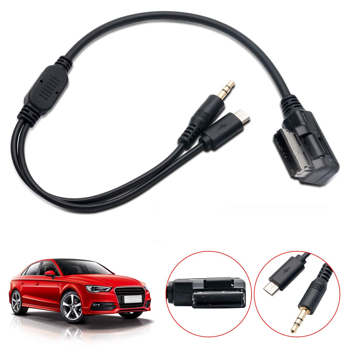 APS US SHIPPING Audio cable for Audi Q3 Q5 Q7 Ami Connector Charging for iPhone6