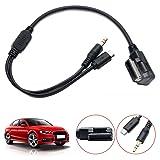 MASO Car Aux Adapter Cable AMI MDI MMI 3.5mm