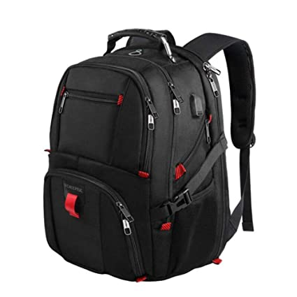 Backpack Travel Laptop, Extra Large College for Men and Women with USB Charging Port Waterproof