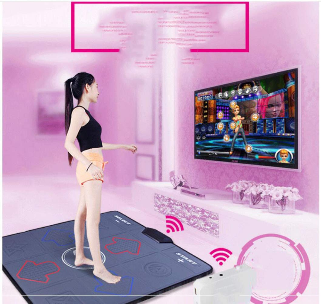 QXMEI Wireless Single Dance Mat TV Computer Dual-use Massage Game Machine 9381CM,Black by QXMEI (Image #5)