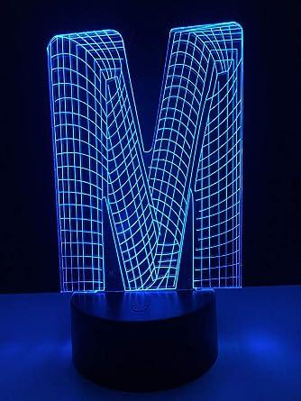 CFLEGEND Luz Nocturna 3D Lámpara De Mesa Led Lámpara De Mesa De ...
