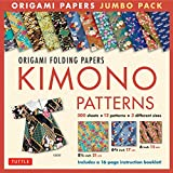 Origami Folding Papers Jumbo Pack: Kimono Patterns: 300 High-Quality Origami Papers in 3 Sizes (6 inch; 6 3/4 inch and 8 1/4 inch) and a 16-page Instructional Origami Book