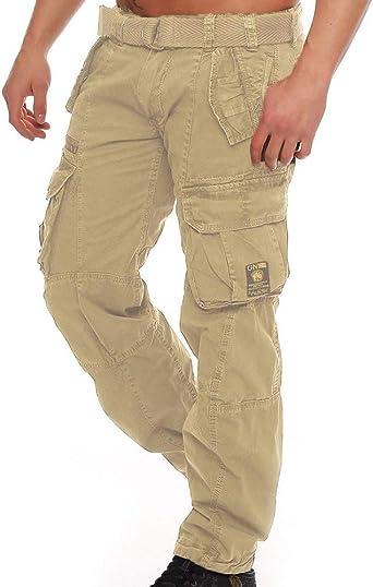 Kewing Pantalones De Trabajo De Carga Para Hombre Pantalones Sueltos De Algodon De Multiples Bolsillos Para Acampar Al Aire Libre De Senderismo Amazon Es Ropa Y Accesorios