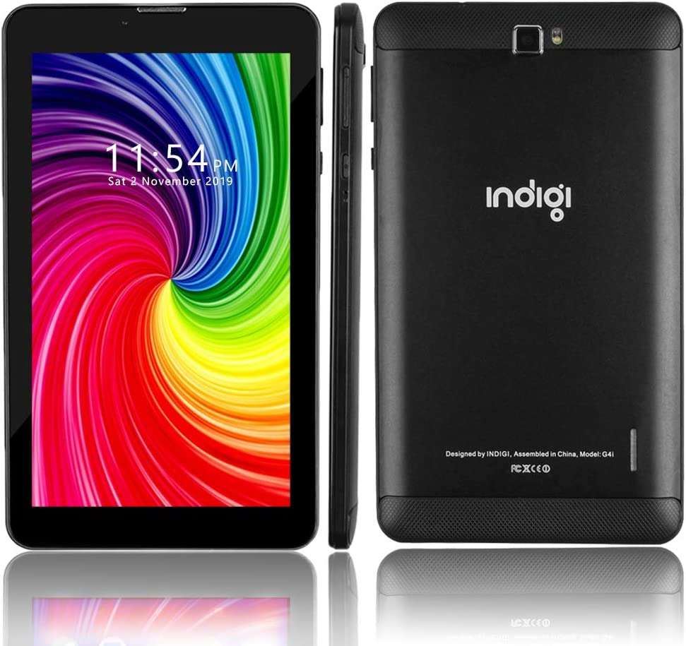 Indigi 4G LTE 6 inch TabletPC & Smartphone GSM Unlocked (Official Android Pie OS + 2SIM + 2GB RAM/16GB Storage) (BLK) + SD Card
