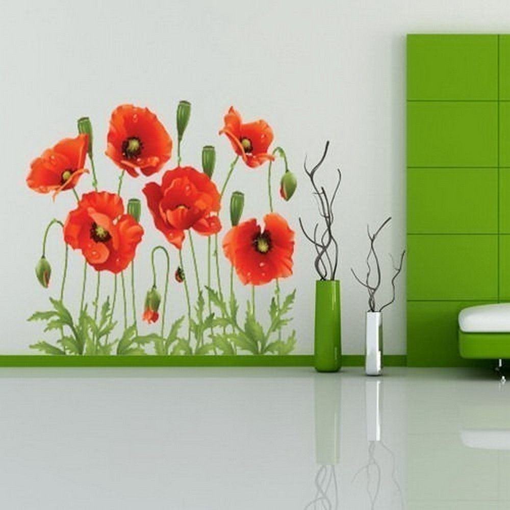 Poppy Flower Wall Decals Images Flower Decoration Ideas