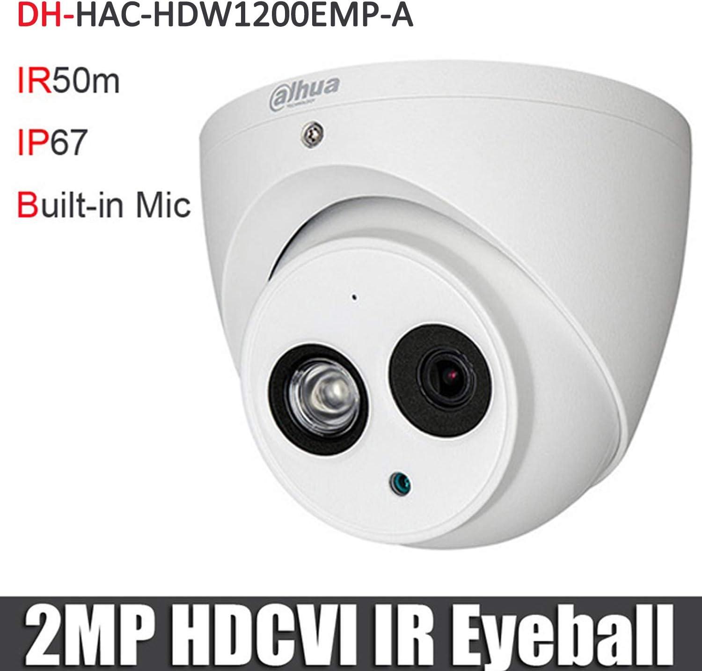 4MP Outdoor CCTV Security Camera 3.6MM Fixed HD-CVI IR Eyeball Dome OEM Dahua