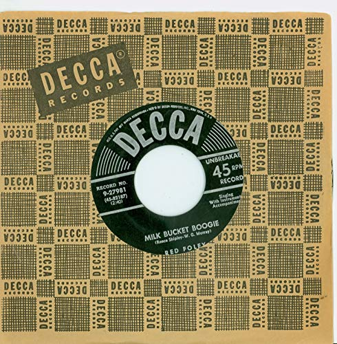 Bucket Boogie (Milk Bucket Boogie | Salty Dog Rag - Red Foley (Decca Records 1952) Near-Mint (7 out of 10) - Vintage 45 RPM Vinyl Record)
