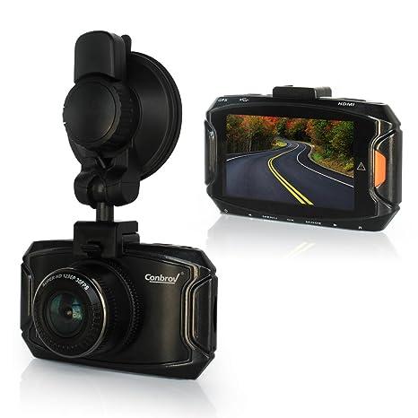 Conbrov T50 - Cámara de seguridad para el coche, luz de bajo rendimiento, 1080p