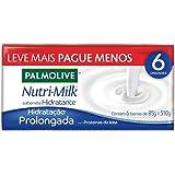 Sabonete em Barra Palmolive Nutri-Milk Hidratação Prolongada 85g, 6 unidades, Palmolive