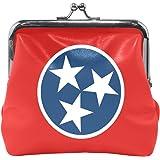 Tennessee State Flag Coin Purse Mini Leather Hasp Handbag
