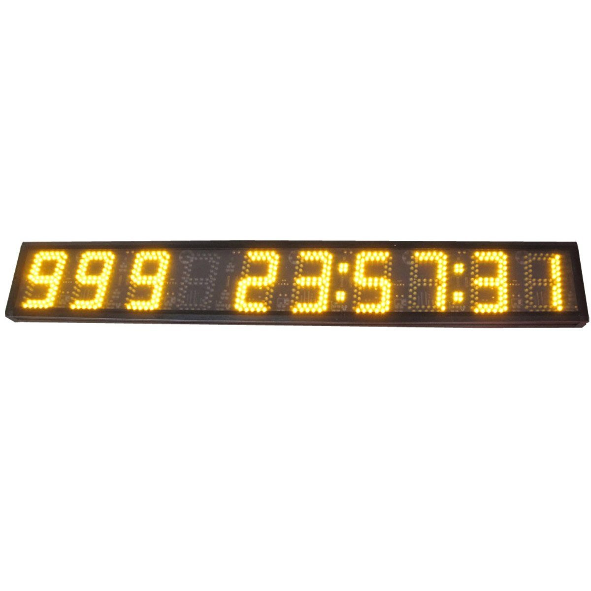 AZOOU Large 5-inch 9 Digits LED Days Countdown/up Clock Days Event Timer For Race Games With IR Remote Control Yellow Color