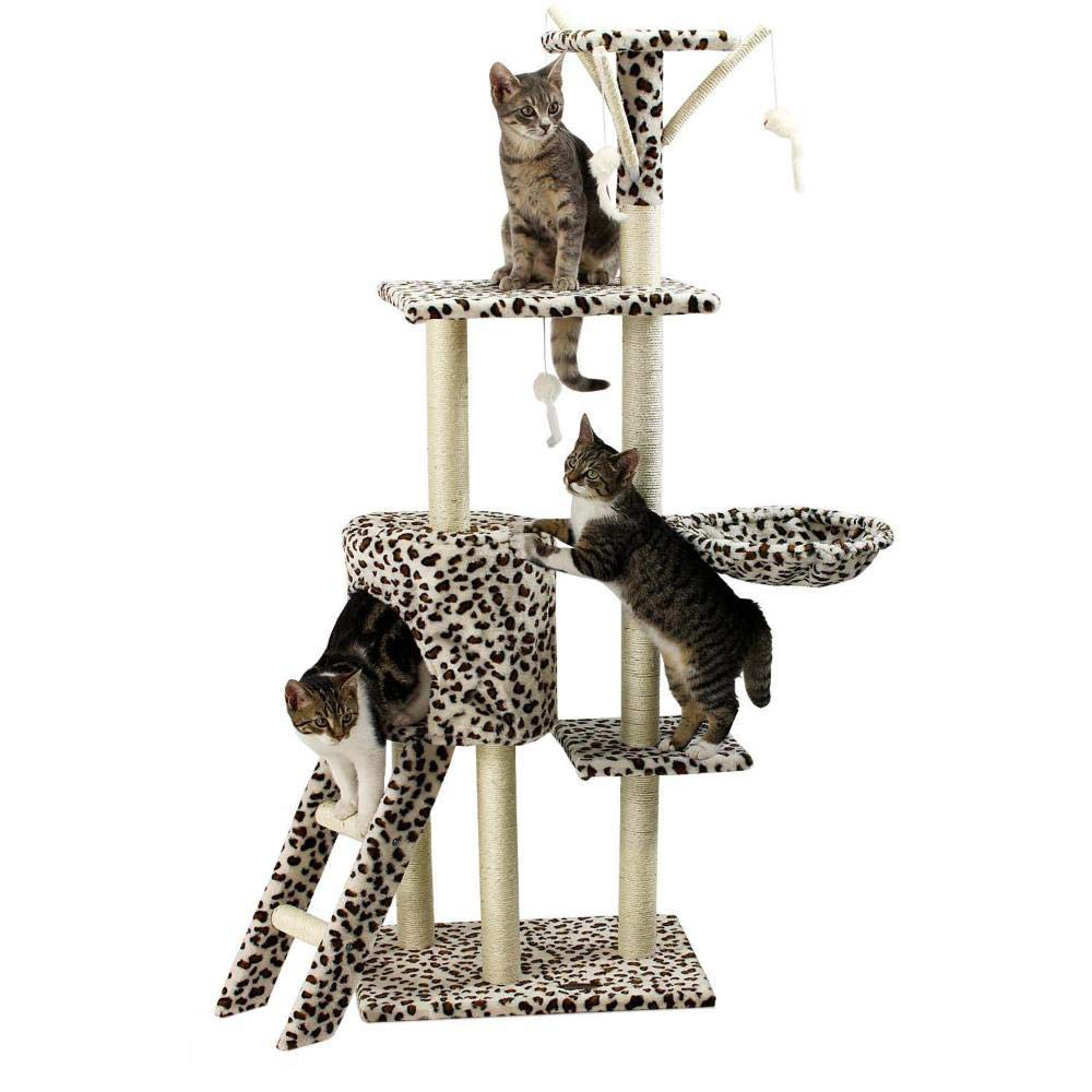 D Daeou cat trees towers Sisal Corrugated Cat Scratch Board sisal cat cat Nest Cat Toy 50  35  138cm