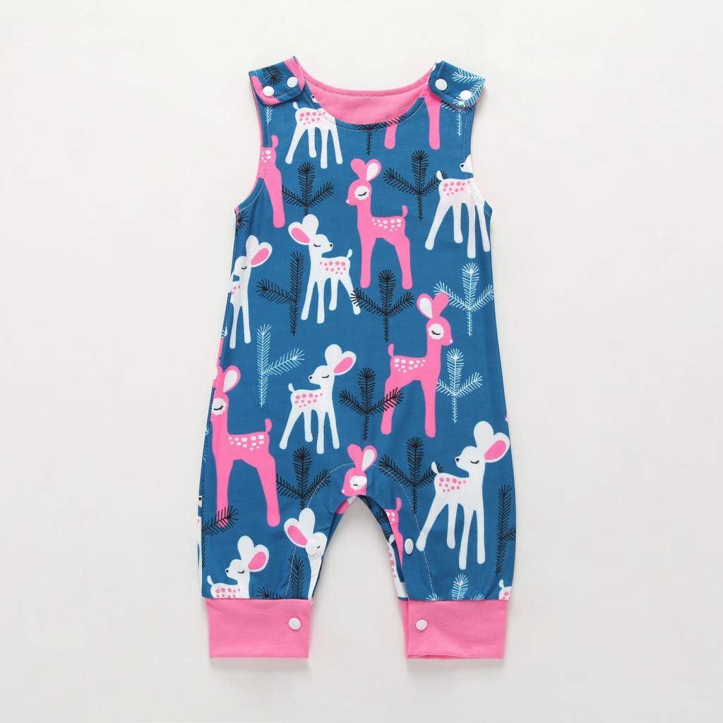H.eternal Baby Boys Girls Rompers Sleeveless Cartoon Animal Print Bodysuits Pajama Cotton Onsises Sleepsuit Coveralls Summer Sleepwear Outfits