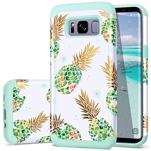 - Galaxy S8 Plus Case, Pineapple Samsung S8 Plus Case Fingic Shock Absorbing Silicone Rubber Bumper Hard Plastic Hybrid Dual Layer Protective Phone Case for Samsung Galaxy S8 Plus (6.2 inch), Green