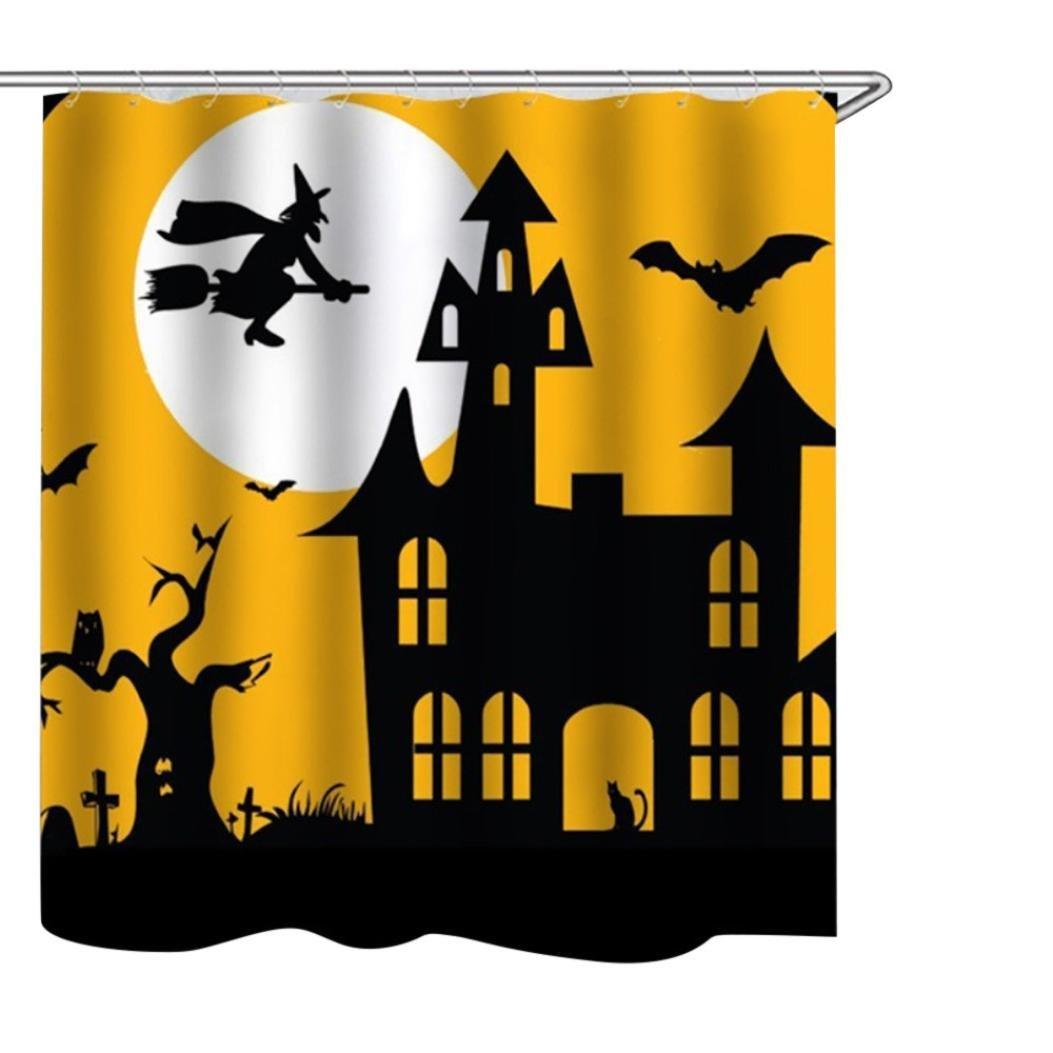 Sunfei Happy Halloween Waterproof Polyester Fabric Shower Curtain 165x180cm (B)