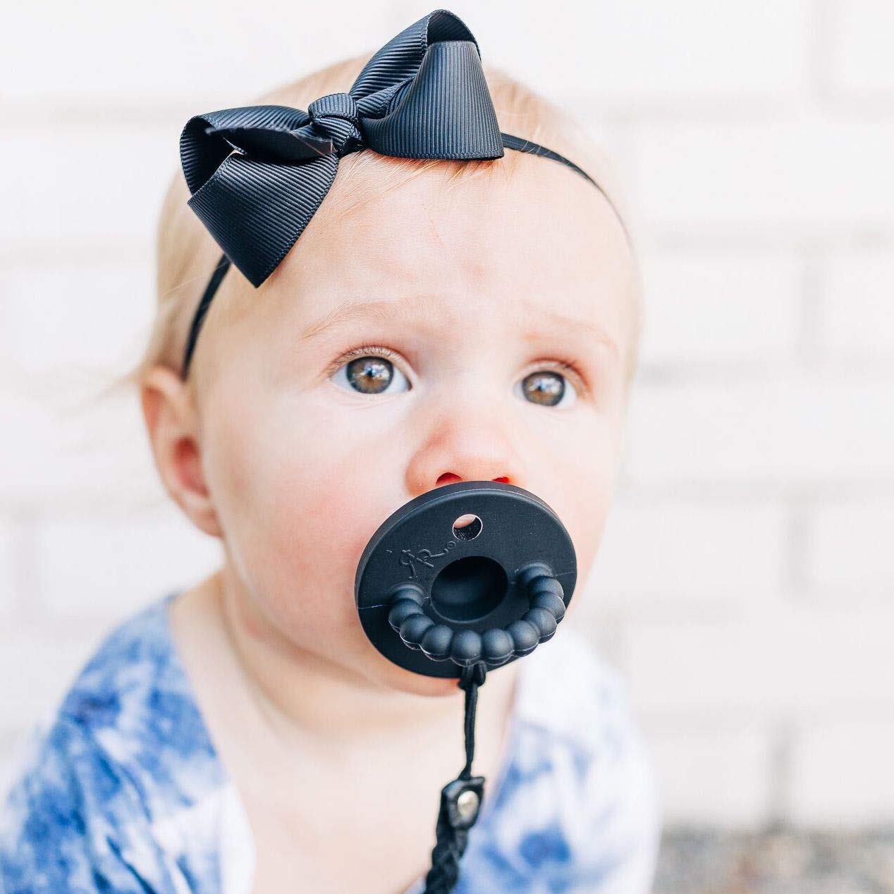 Ryan & Rose Cutie PAT Pacifier (Flat, Black)
