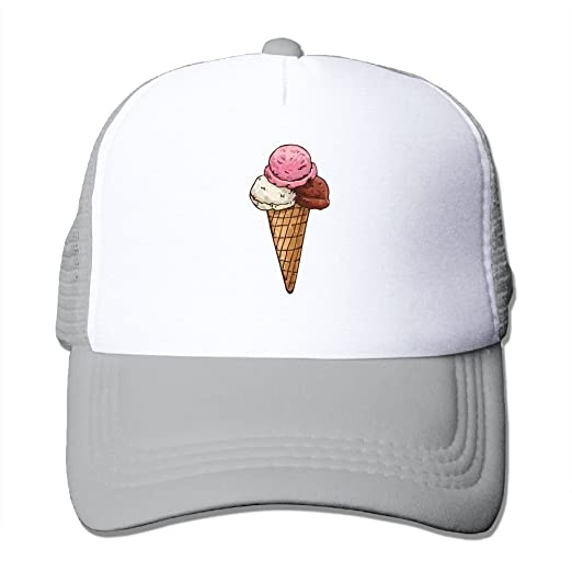 c71ac1bca26 Amazon.com  Men   Women Ice Cream Cartoon Summer Adjustable Snapbackc  Baseball Caps Trucker Hat  Clothing