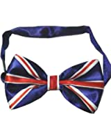 UNION JACK BOW TIE PRE TIED LUXURY AND ADJUSTABLE SILKY SATIN NEW** SAME DAY POSTING***