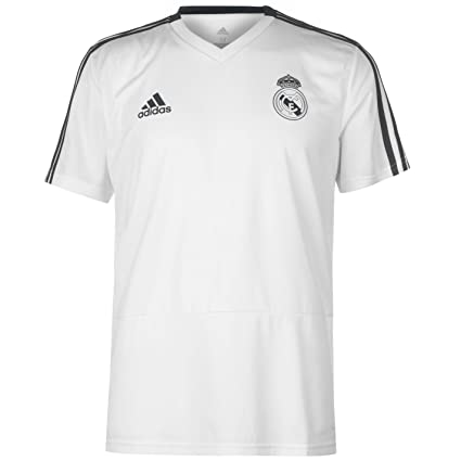 55561b74e Image Unavailable. Image not available for. Color: adidas 2018-2019 Real  Madrid Training Football Soccer T-Shirt ...