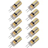 DiCUNO 10pcs G4 3W LED Warm White Light Lamps AC/DC 12V Non-dimmable Equivalent to 20W ~ 25W T3 Halogen Track Bulb Replacement LED Bulbs