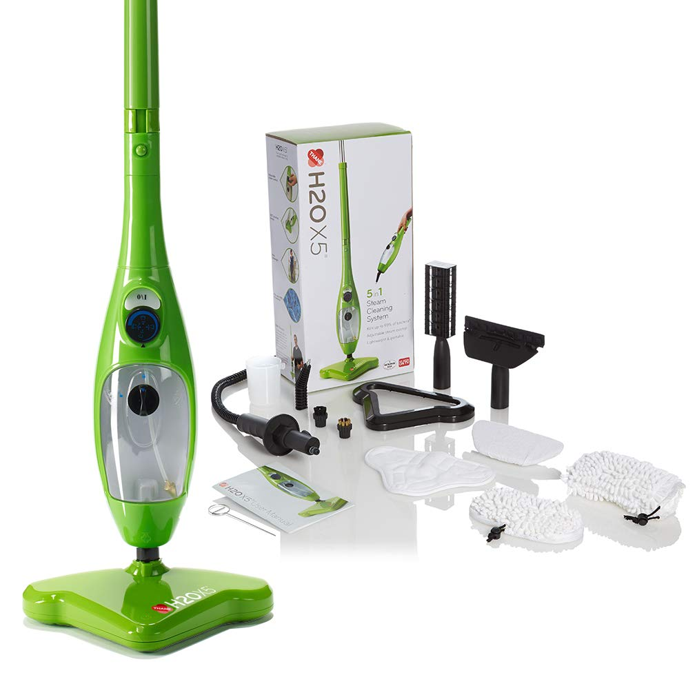 H2O Mop, Bodenwischer X5 5 in 1 Green Steam Mop von Thane Direkt