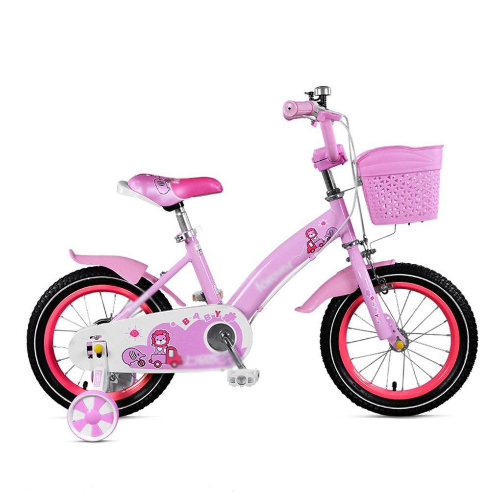 キッズ 自転車 女の子 ペダル 2~8歳 子供 プリンセス ベビーカー 高さ80-140cm アクセサリーとしてお使いいただけます。 16 inches ピンク B07JY6GDQM  ピンク 16 inches