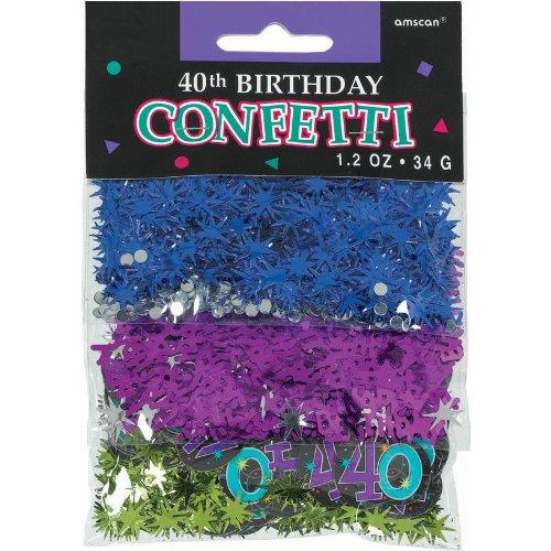 40th Birthday Confetti - 8