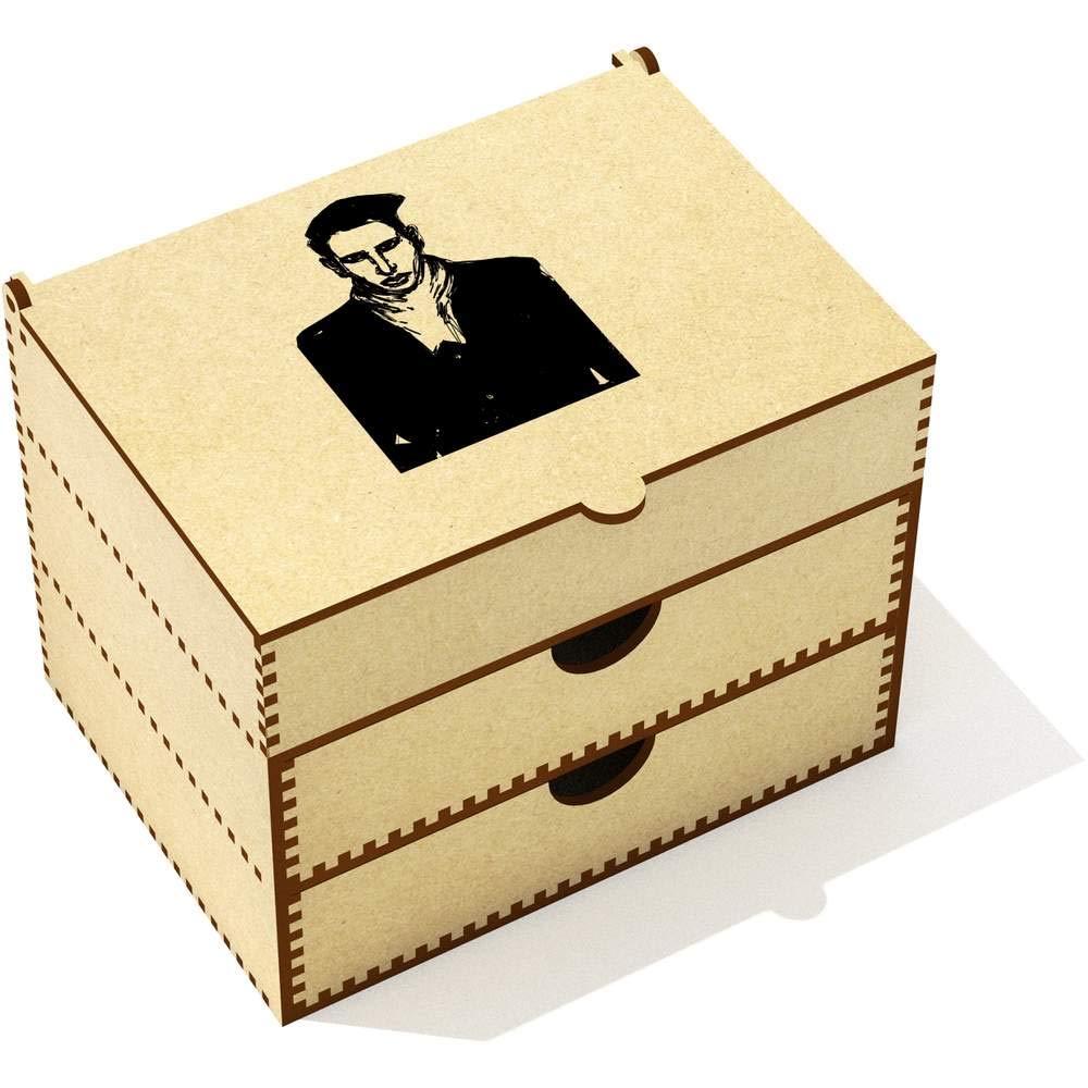 Azeeda 'Marilyn Manson Portrait' Vanity Case / Makeup Box (VC00009398)