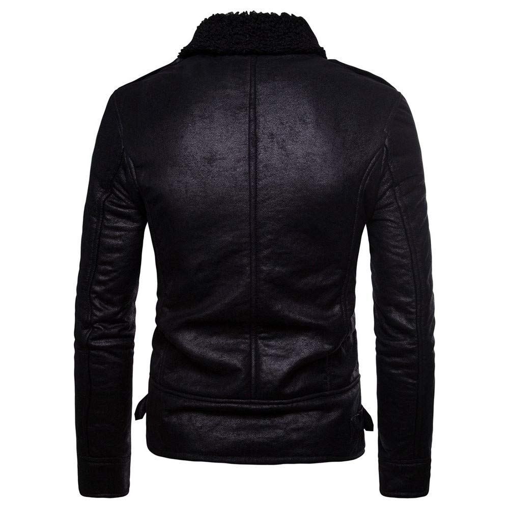 kemilove Men Leather Jacket Coat Gilet Sexy Workwear Outwear ...