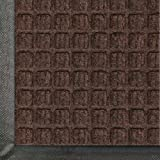 Andersen 200 WaterHog Classic Polypropylene Fiber Entrance Indoor/Outdoor Floor Mat, SBR Rubber Backing, 6' Length x 4' Width, 3/8'' Thick, Dark Brown