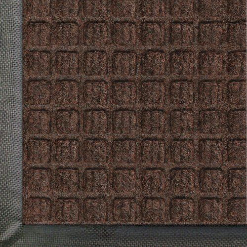 Andersen 200 WaterHog Classic Polypropylene Fiber Entrance Indoor/Outdoor Floor Mat, SBR Rubber Backing, 10' Length x 3' Width, 3/8'' Thick, Dark Brown by The Andersen Company