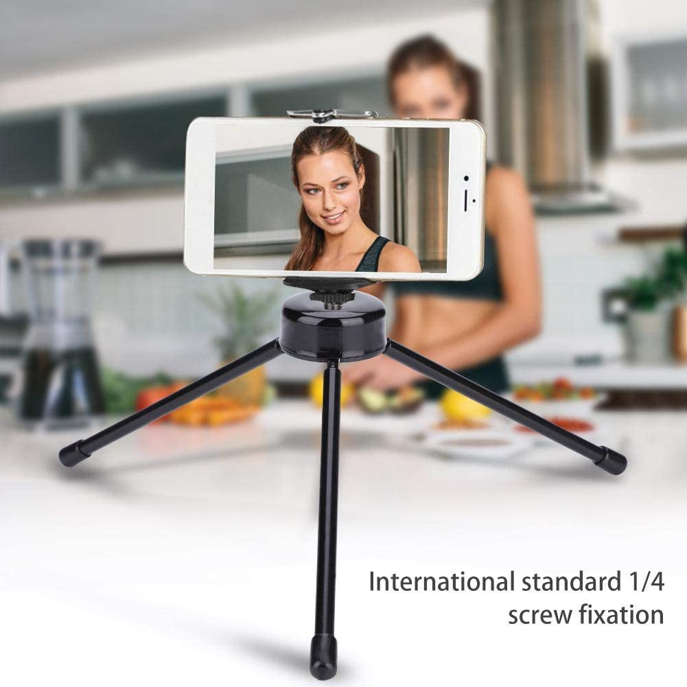 Tabletop Tripod,Lightweight Collapsible Mini Metal Tripod,Table Stand Accessory for Camera//Phone//Photo//Pad,Standard 1//4 Screw Fixation