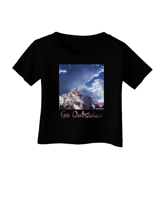 TooLoud Go Outside Mountain Infant T-Shirt Dark