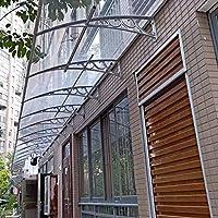 LPD Techo Puerta Exterior Tejadillo Marquesina Techo Panel De Policarbonato Resistente A La Intemperie Techo Sun Pergola Patio Rain Shelter, con Soporte Blanco: Amazon.es: Hogar