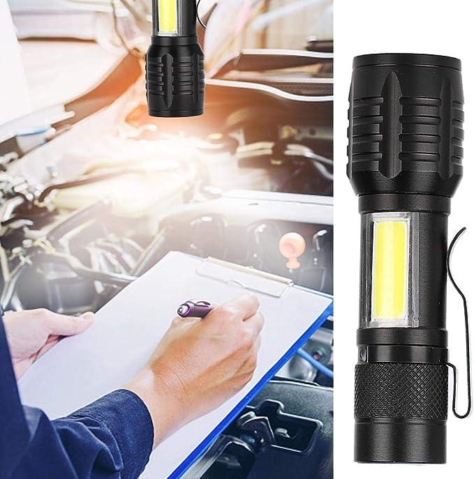 Antorcha LED, Linterna Recargable USB 3 Modos de iluminación ...