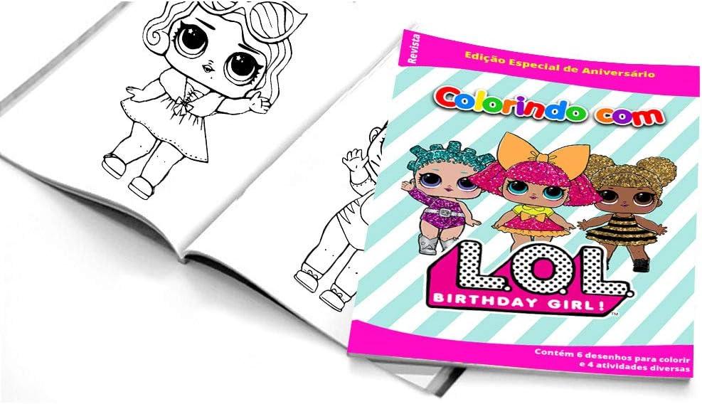 5 Cadernos De Colorir Lol Surprise Amazon Com Br Casa