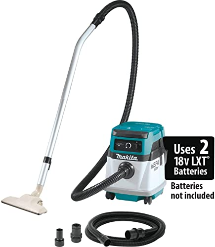 Makita XCV13Z 18V X2 LXT Lithium-Ion 36V Cordless Corded 4 Gallon HEPA Filter Dry Dust Extractor Vacuum, Tool Only