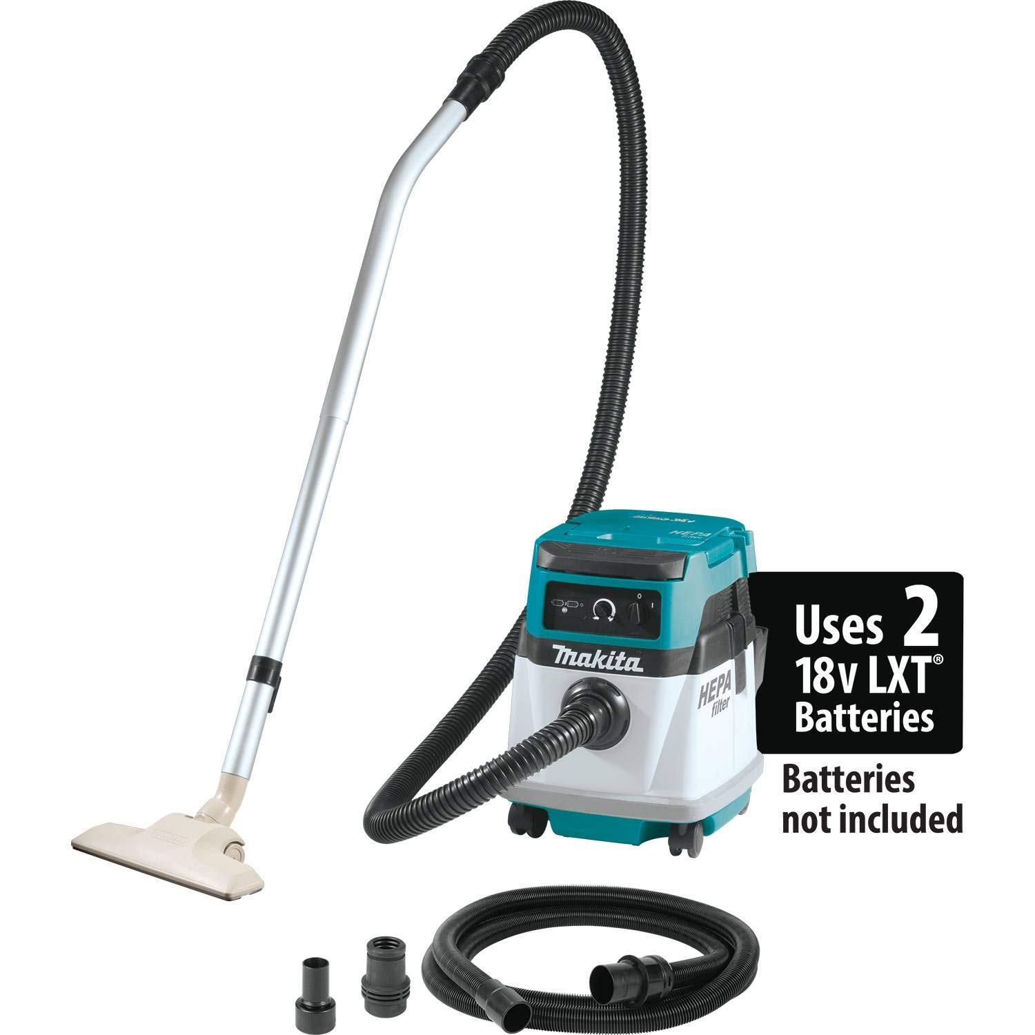 Makita XCV13Z 18V X2 LXT Lithium-Ion (36V) Cordless/Corded 4 Gallon HEPA Filter Dry Dust Extractor/Vacuum, Tool Only by Makita