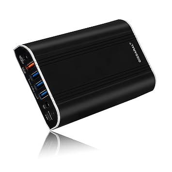 GISSARAL 24000mAh 90Wh Llevar Vuelo Power Bank 12V Cargador batería Externa portátil para Surface Pro 6 Book Pro 5/4/3 Pro 2 RT, 4 Puertos USB para ...