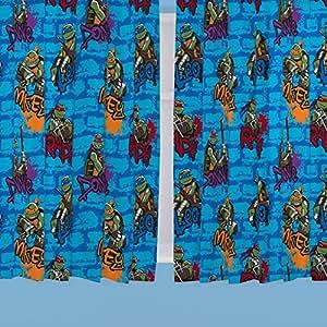 TMNT - Cortinas de las Tortugas Ninja (137 cm), multicolor