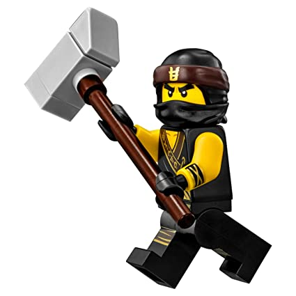 Lego The Ninjago Movie Cole Minifigure In Ninja Suit With Weapon 70618