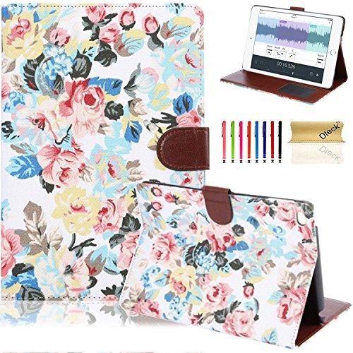iPad Mini 4 Case,Dteck(TM) Slim-fit Elegant Vintage Floral Pattern Premium Leather Folio Flip Stand Wallet Cover Case for Apple iPad Mini 4 (Cloth White) (Iphone 4 Cases Floral Vintage)