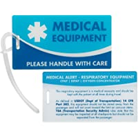 Medical Equipment ID Identification Luggage Tags   Medical Alert   Carry-On Respiratory Devices