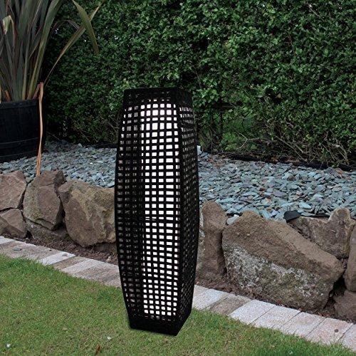 Solar powered rattan garden floor lamp amazon lighting solar powered rattan garden floor lamp aloadofball Images