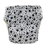 Ohbabyka Baby Training Pants Washable Reusable Nappy Diaper,Stars (XLK02)