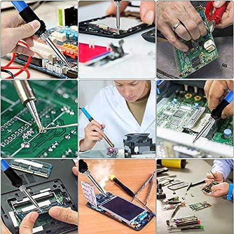 Pirograbador de Madera Preciva Kit Pirograbdores Electrico 60W Temperatura Regulable, 1.4m Cable, con 45 Puntas y Accesorios, Soldador Pirografo Profesional ...