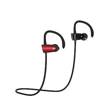 Inalámbrica Bluetooth auriculares, Monstercube Phoenix deportes en oreja Auriculares Auriculares manos libres auriculares estéreo con gancho para la ...